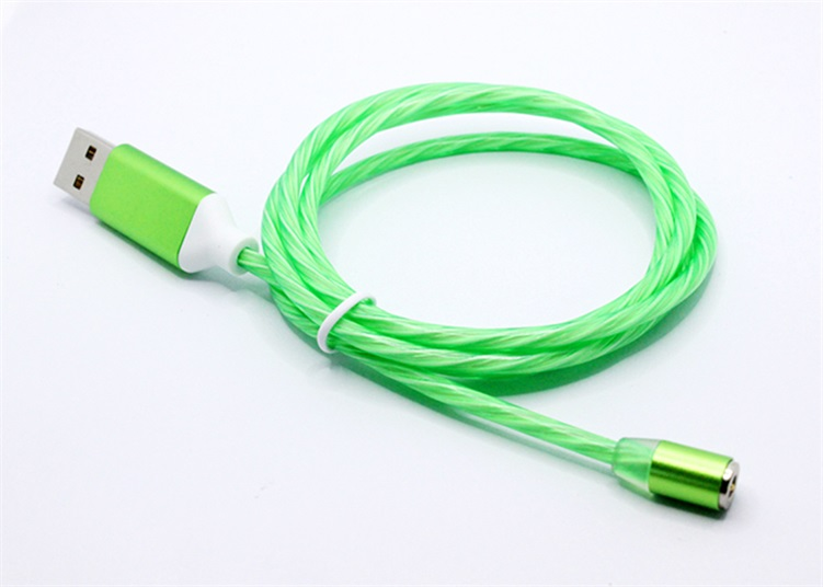 绿色流光磁吸数据线